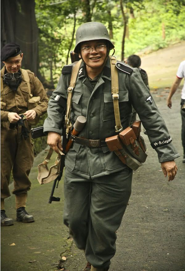 Korean war reenactment