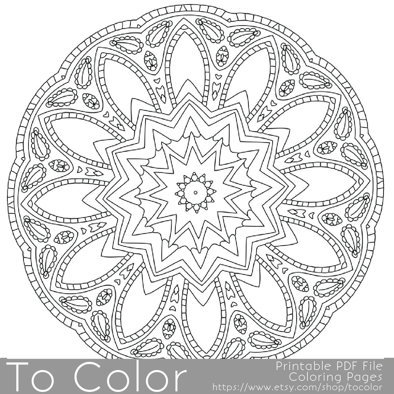 Intricate Printable Coloring Pages for Adults, Gel Pens