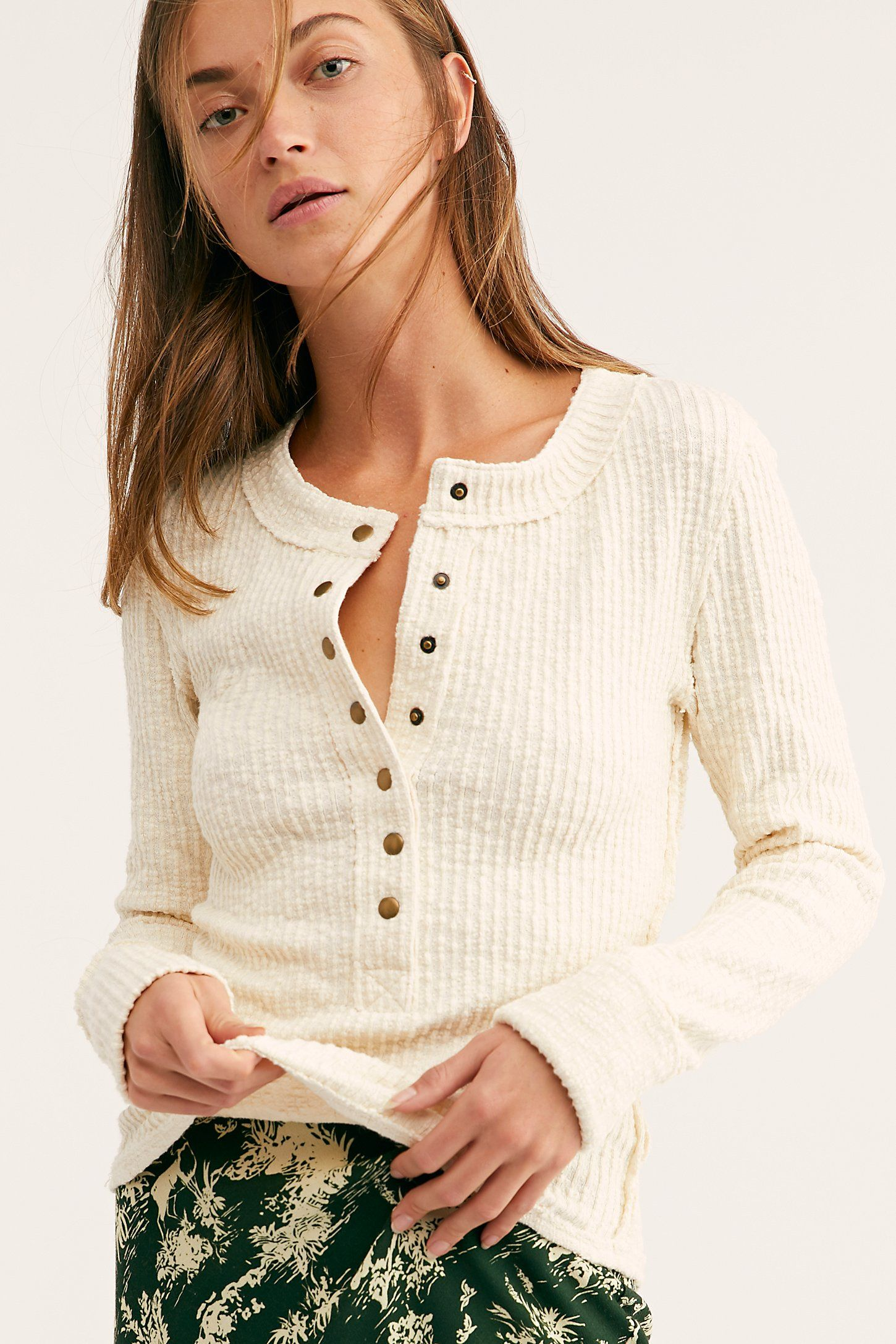 37a9826f34 We The Free High Tide Henley Top in 2019