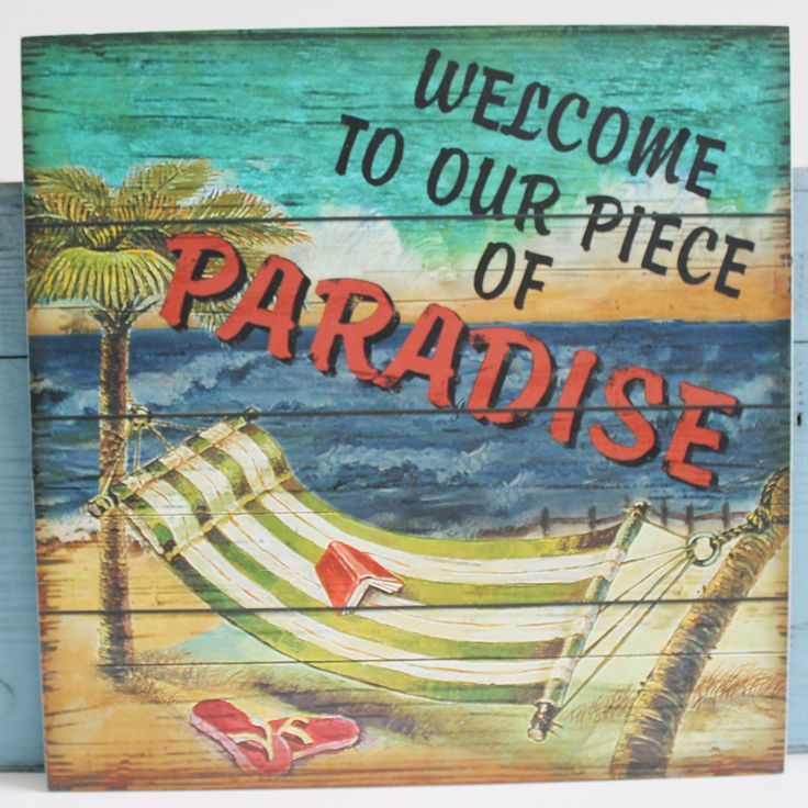 Welcome To The Lake Signs Decor Awesome Welcome To Our Piece Of Paradise Plaque  Beach Signs  Pinterest Decorating Design