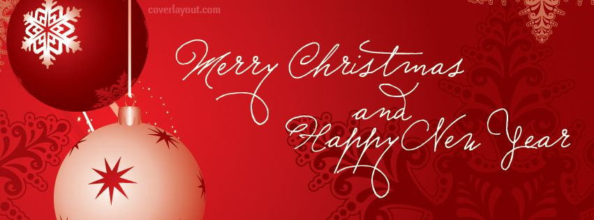 Merry Christmas to all and a Happy New Year Red CoverLayout.com ...