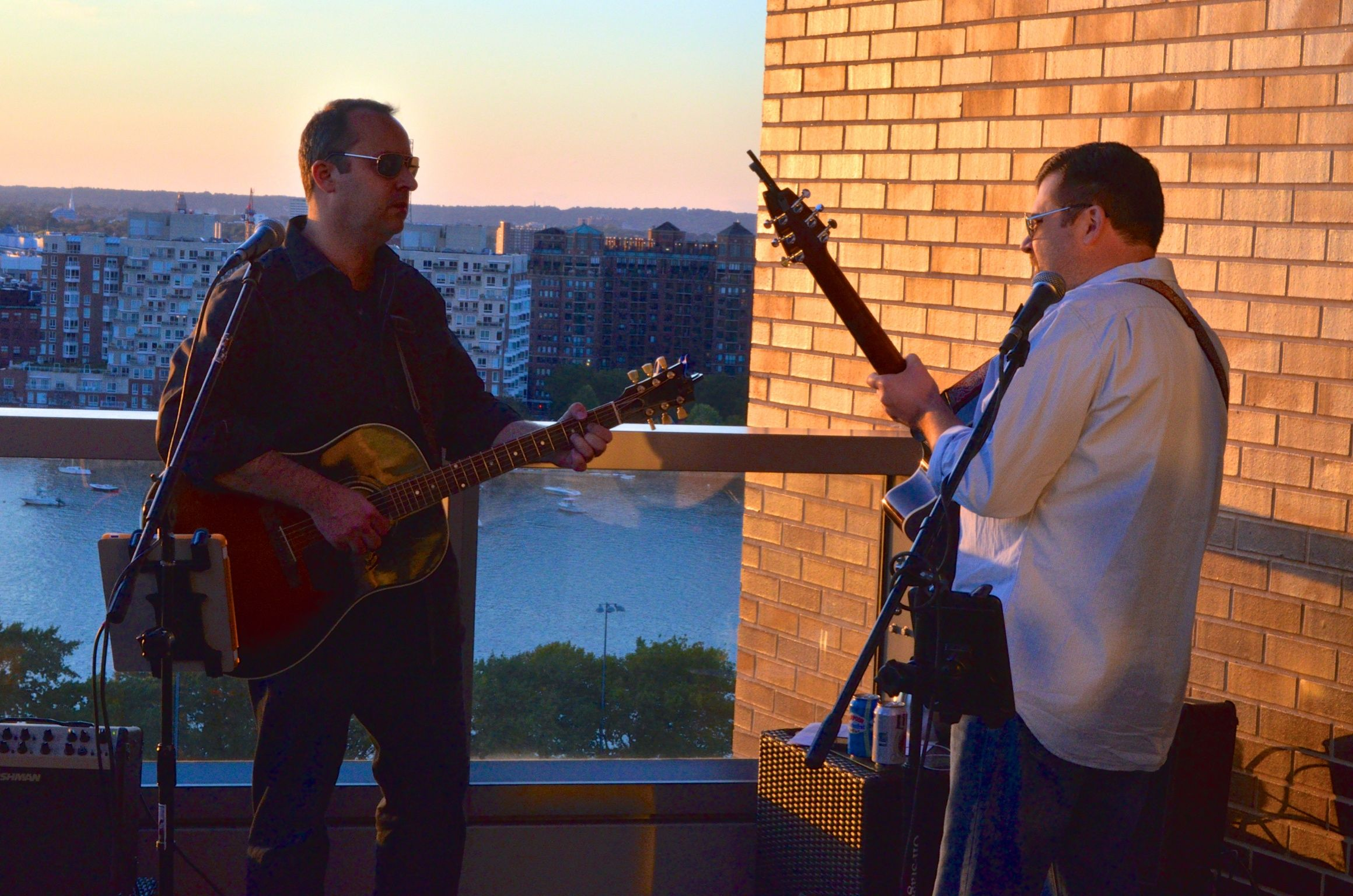 """Bringing some musical style to the """"Trilogy of Style event at the Liberty Hotel.   #becauseitsmorefun #findyourcool #rightupyourali"""