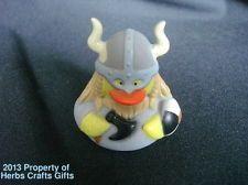 "Rubber Duck VIKING Helmet Horns Mask Axe Shield Duckie NEW 2"" Collectible"""