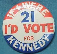 Kennedy campaign button