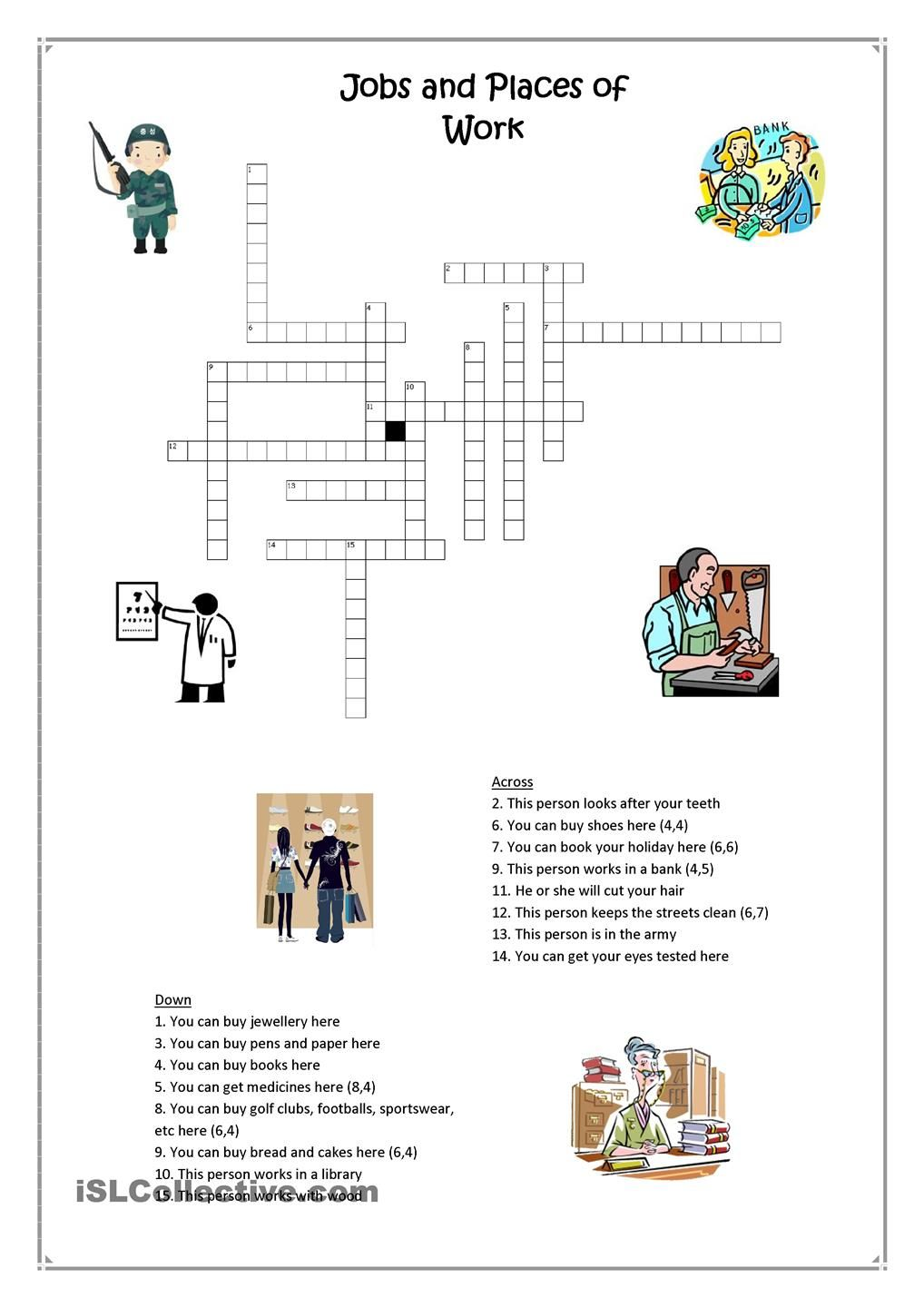 1000 images about work english places and crossword