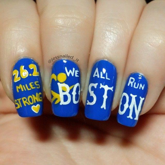 jessnailed_it boston marathon #nail #nails #nailart | Nails ...