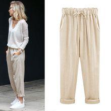 Free Shipping Women Pants Linen Cotton Casual Harem Pants Jkp1810 Cotton Cropped Pants Linen Pants Outfit Fashion