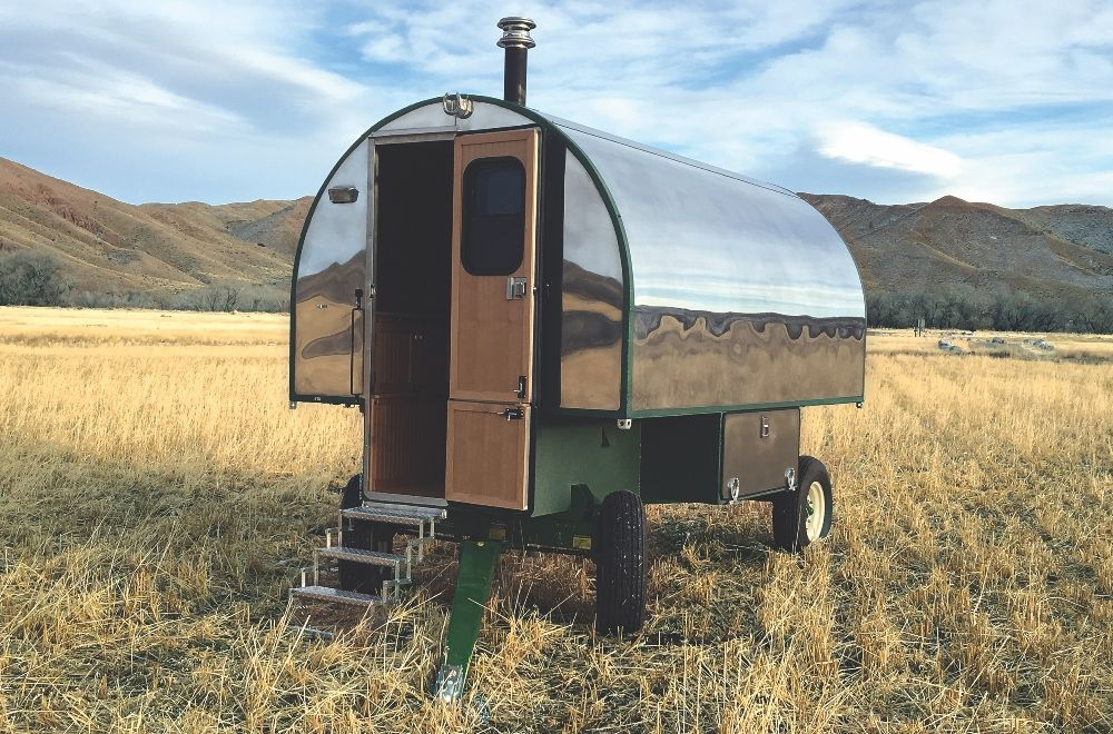 Tiny House Living In A Luxury Sheep Wagon Mountain Living Wagon Wagons Tiny House