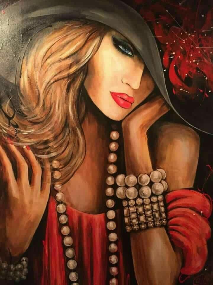 Pin by rina sfadia on נשים בציור
