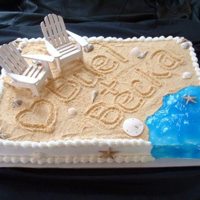 Beach Wedding Reception Food Ideas: Beach Wedding Shower Cake :) SO CUTE!!