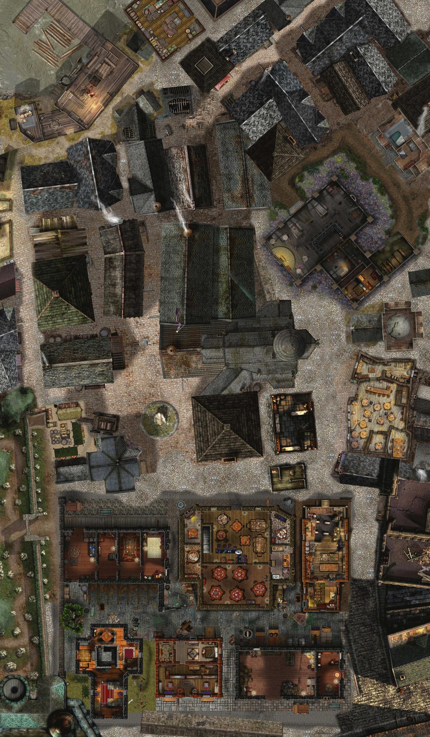 City Battle Map : battle, Together;, Original, Regions, Mine., Sources, Follows:, Source, List:, Virtual…, Fantasy, Pathfinder, Maps,, Dungeon
