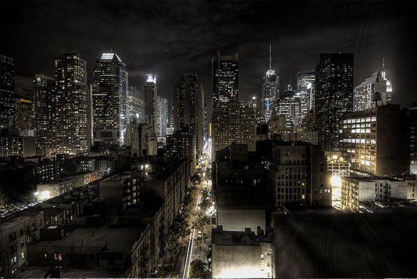New York City At Night Hdr Gotham City Skyline Visiting Nyc City Wallpaper