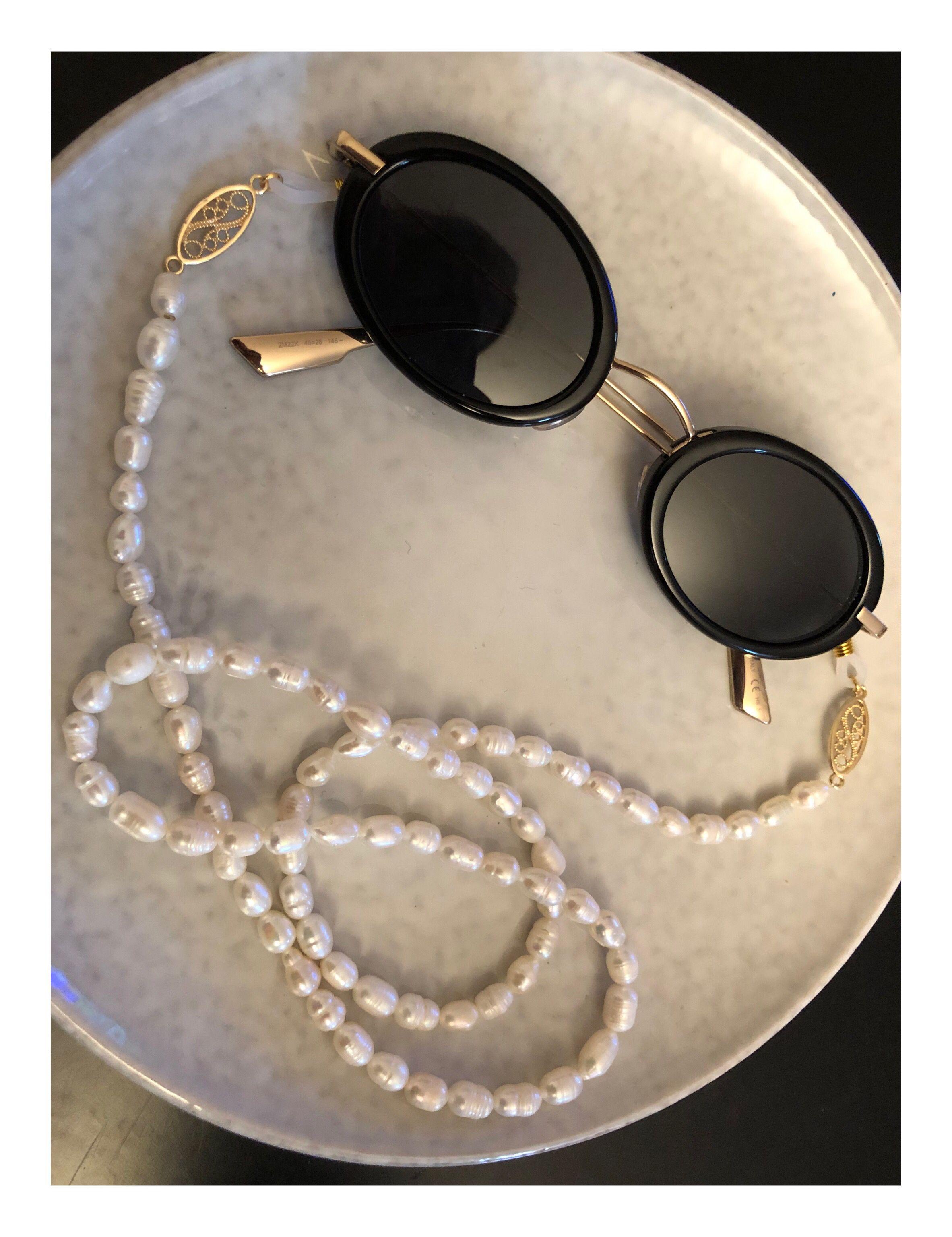 Chaîne à lunettes en perles d eau douce en 2020 | Lunettes