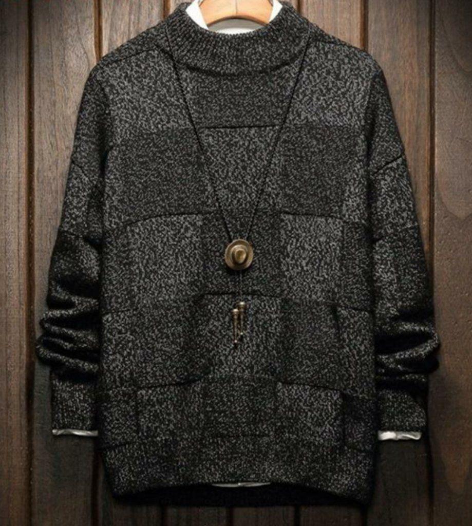 MSA Signature Winter Pullover Men Sweater Man Thick Warm