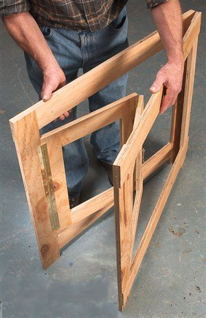 Hinged Frames Give Broad-Based Support - Woodworking Shop - American ...