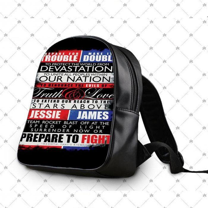 48ed92fcf3 Pokemon Team Rocket Motto School Bag Backpacks