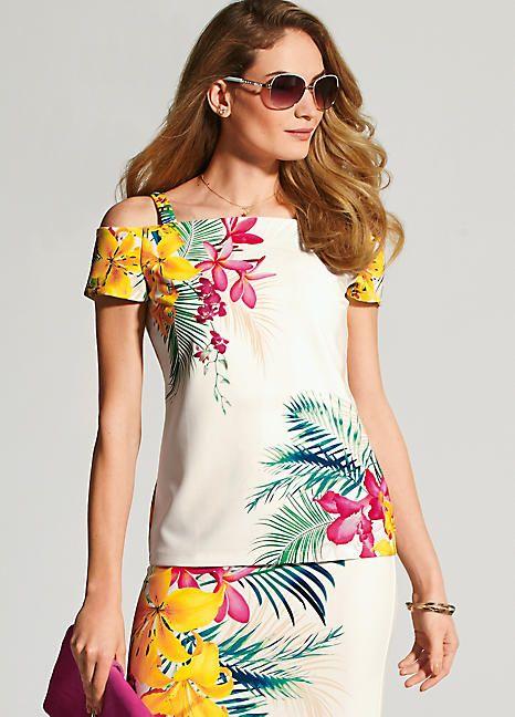 Vita Tropical Print Maxi Dress | Tropical print maxi dress