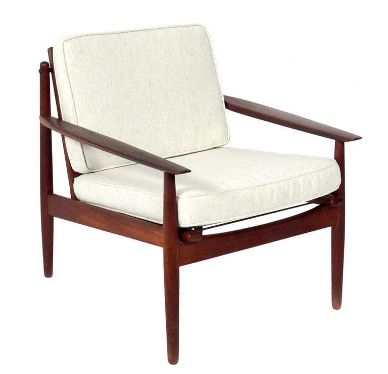 Danish Modern Lounge Chair By Arne