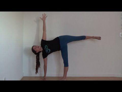 yoga basics halfmoon pose ardha chandrasana with shana