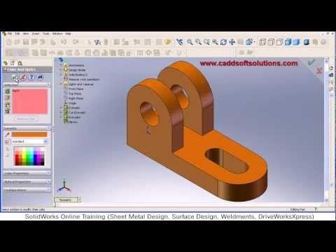 SolidWorks Basic Part Modeling Design Tutorial for Beginners
