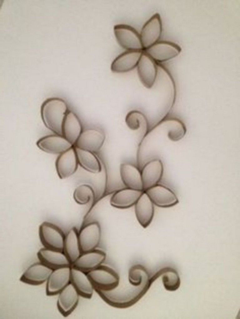 40 Diy Paper Roll Wall Art To Embellish Your Home Toilet Paper Crafts Toilet Paper Roll Art Toilet Paper Roll Crafts