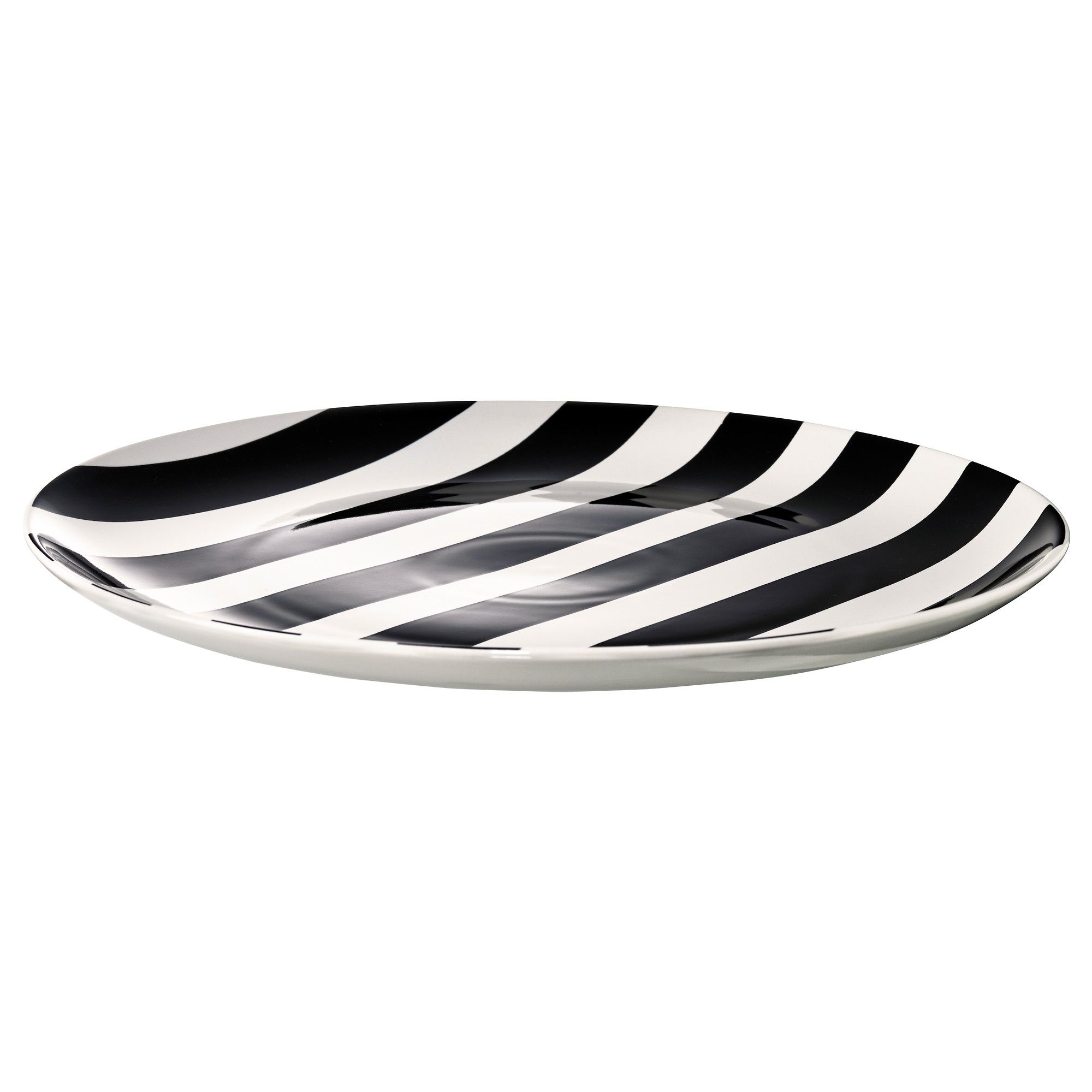 Black and white stripe charger plates - Ikea 365 Glass Clear Glass White Platescharger