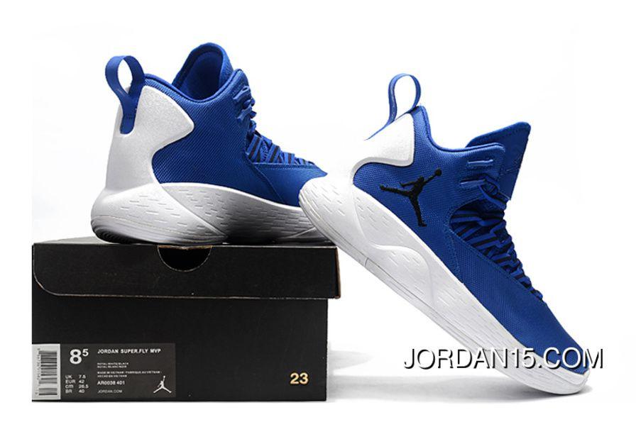 reputable site f0a09 f4d45 Nike Jordan Super.Fly MVP PF Hyper Royal White Men s Size AR0038-401  Basketball Shoes Discount