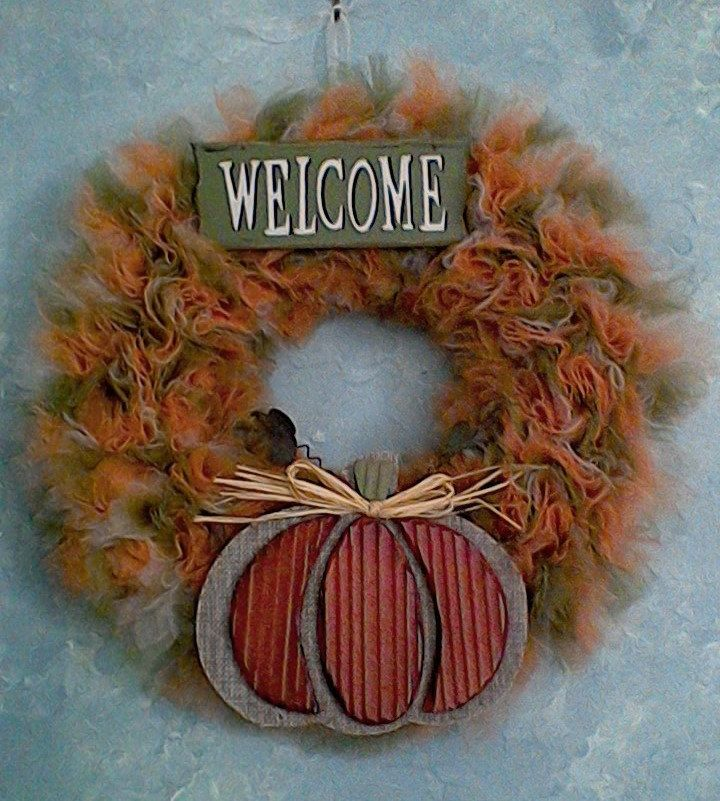 Autumn Welcome Tulle Wreath by TutuChicWreaths on Etsy