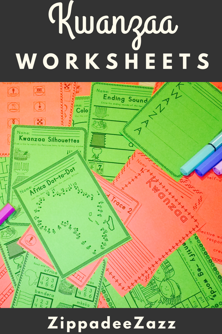 Worksheets For Kwanzaa Ela Literacy And Math Activities My