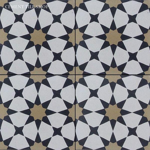 Cement Tile Shop Handmade Cement Tile Agadir Black