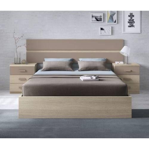 Juego Dormitorio Matrimonial Respaldo Mesas De Luz Laqueado 39 893 00 En Mercado Libre Bed Furniture Design Bed Design Modern Wooden Bed Design