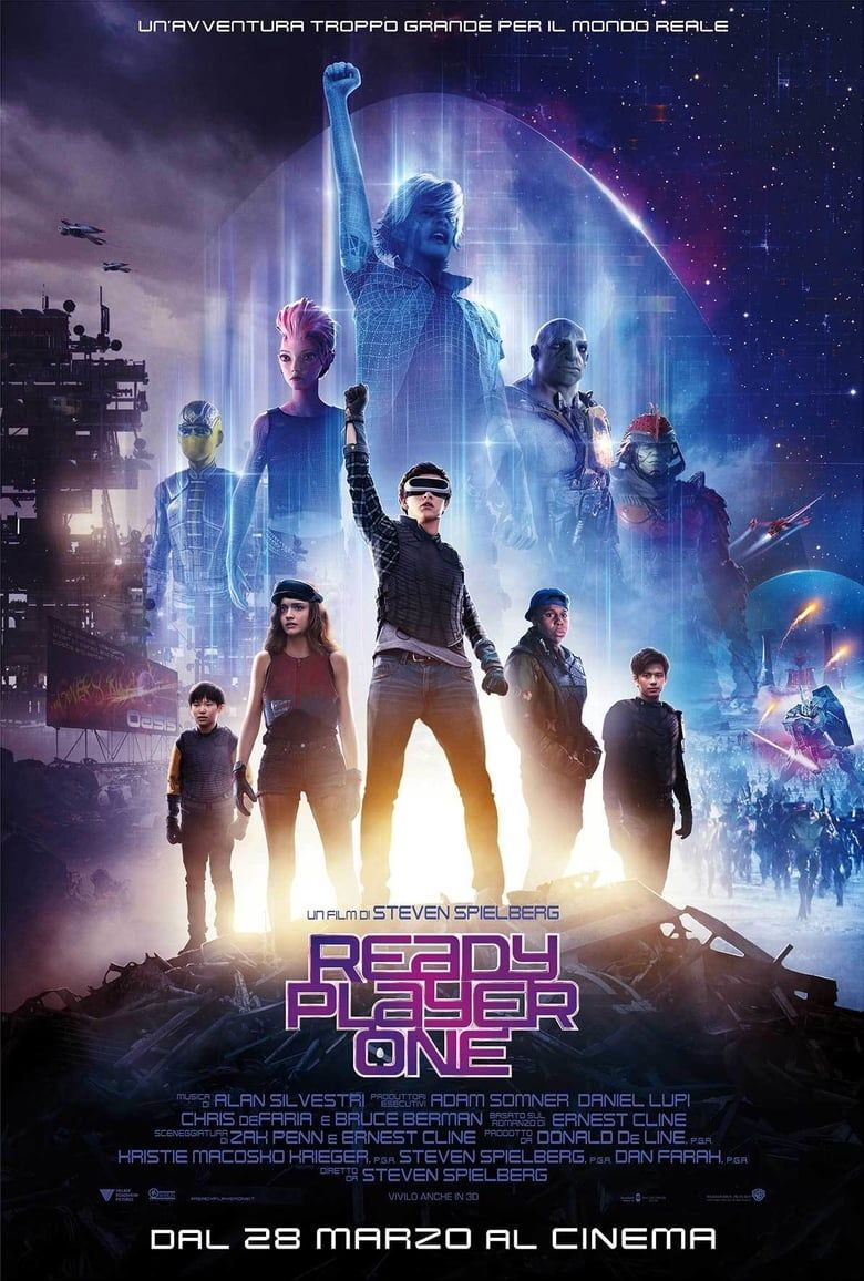 Ready Player One 2018 Download Hd 1080p F U L L Movie Dvdrip Dvdscr Hd Avi Movie Ready Player One Movie Ready Player One Player One