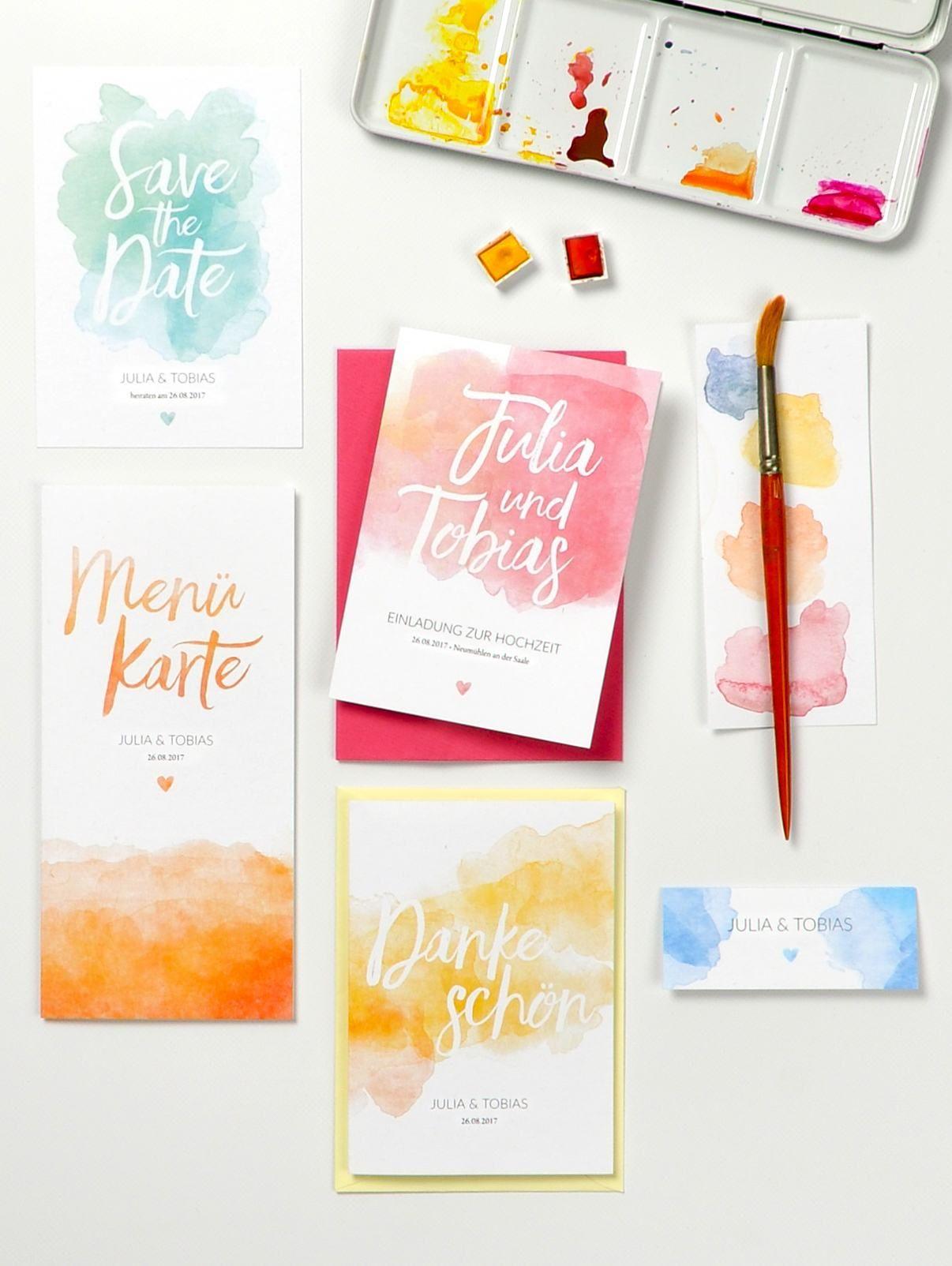 Hochzeitskartendesign-Pastel-Aquarelle-Hochzeitseinladung-Einladung ...