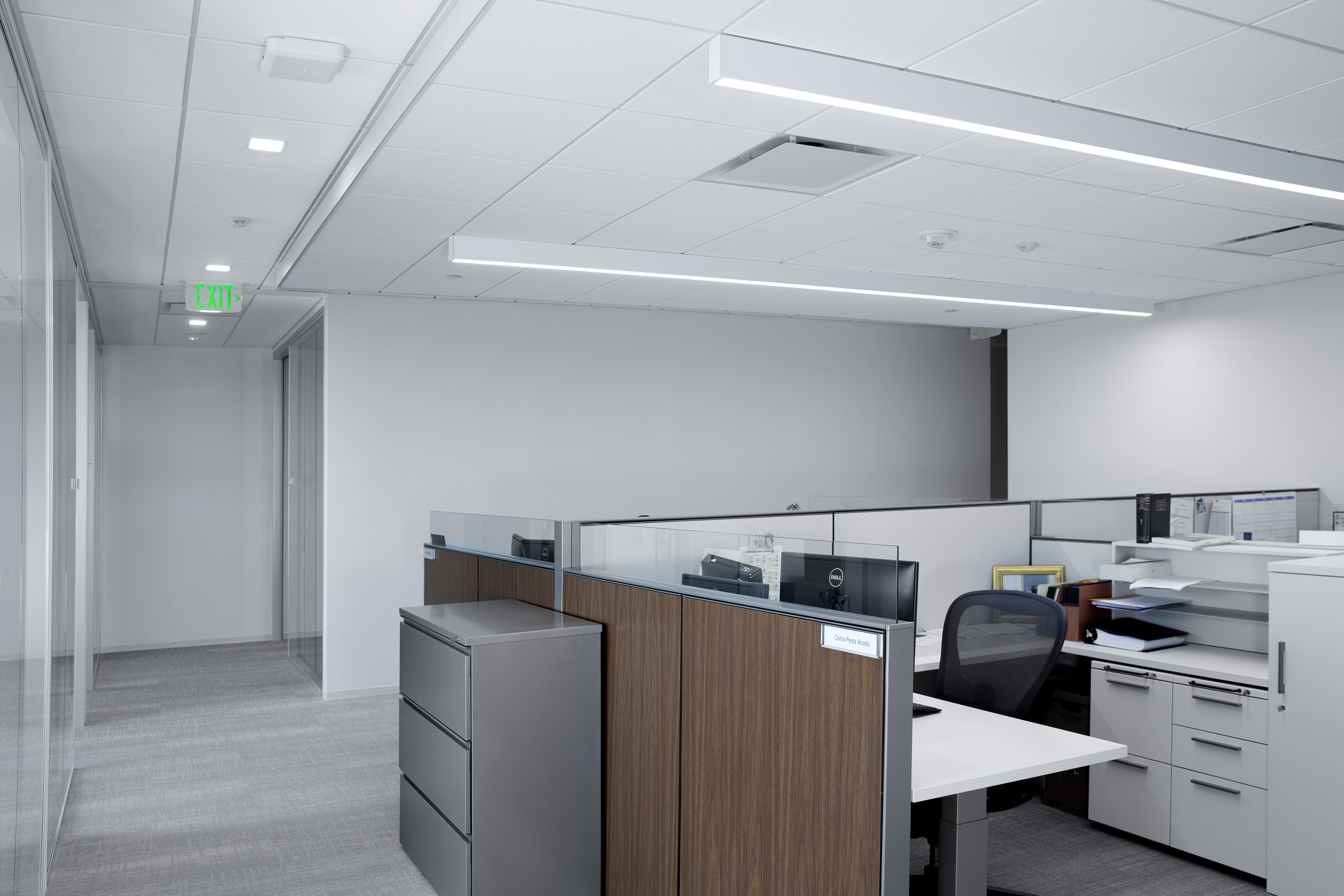 Occupants Can Adjust Both Intensity And Color Temperature Of The Litecontrol Mod 2l Surface Direct Fixtures With Integrated Spectrasync Technology Based On Nee