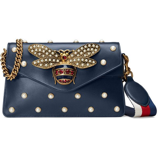 018f56fa73da Gucci Broadway leather mini bag (1,205 BHD) ❤ liked on Polyvore featuring  bags,