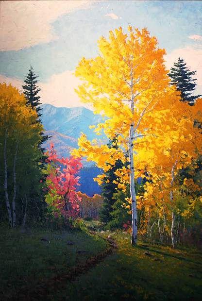 Artist Douglas Aagard paints in Beaver Creek | VailDaily.com