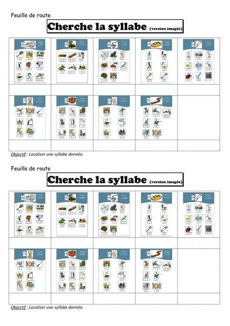 Cherche la syllabe | Feuille de route, Lecture gs