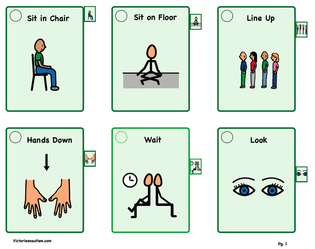 Victories And Autism Visual Tools Visual Supports