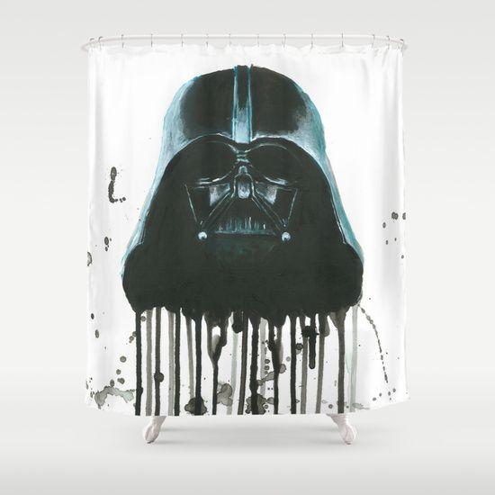 Darth Vader Shower Curtain Shower Curtain Darth Vader Curtains
