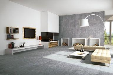 Beton fliesen dark grey wohnzimmer - Schwarze fliesen wohnzimmer ...