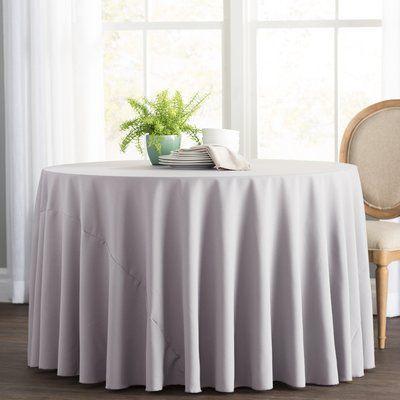 Basics Wayfair Basics Polyester Round Tablecloth Round