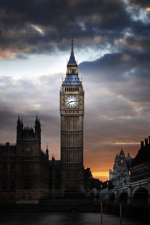 Big Ben at Dusk, London, England