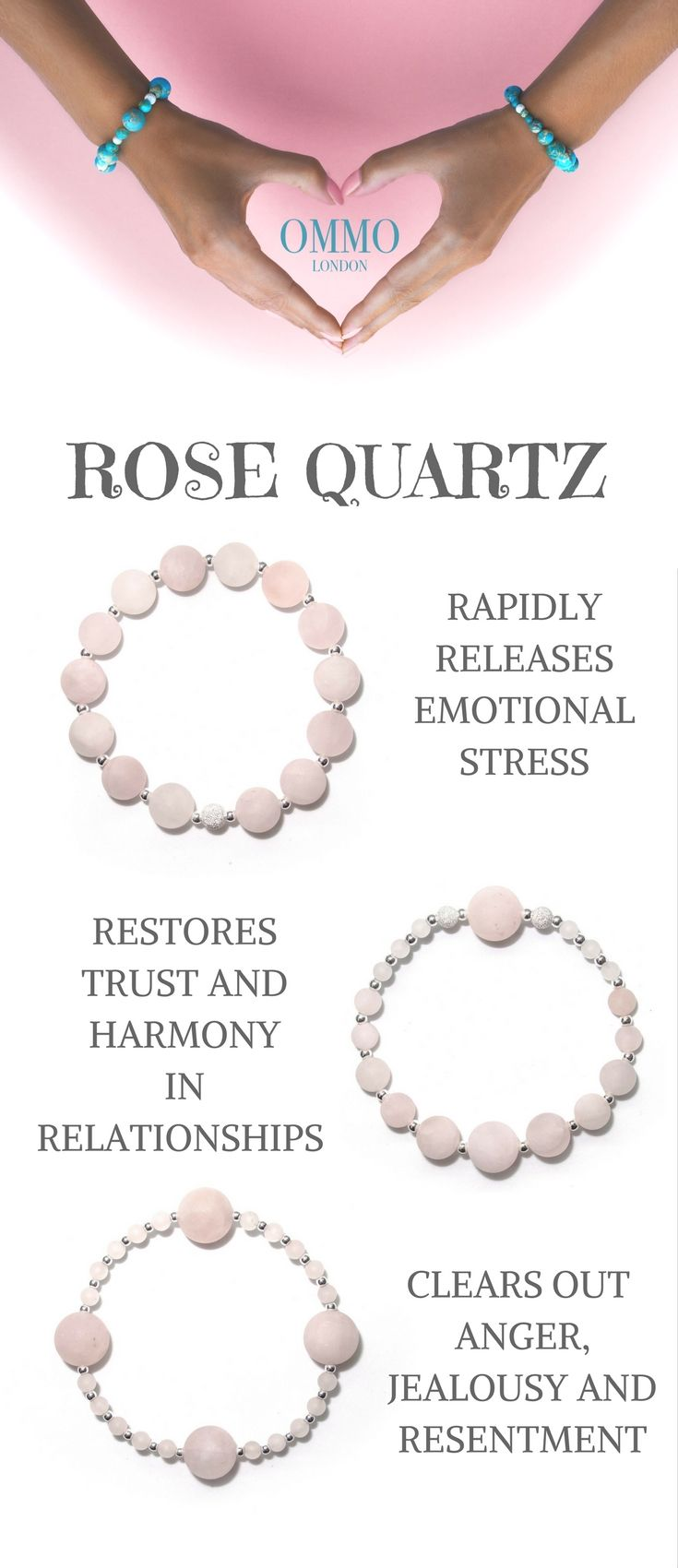 Rose Quartz And Sterling Silver Bracelets Jewellery With A