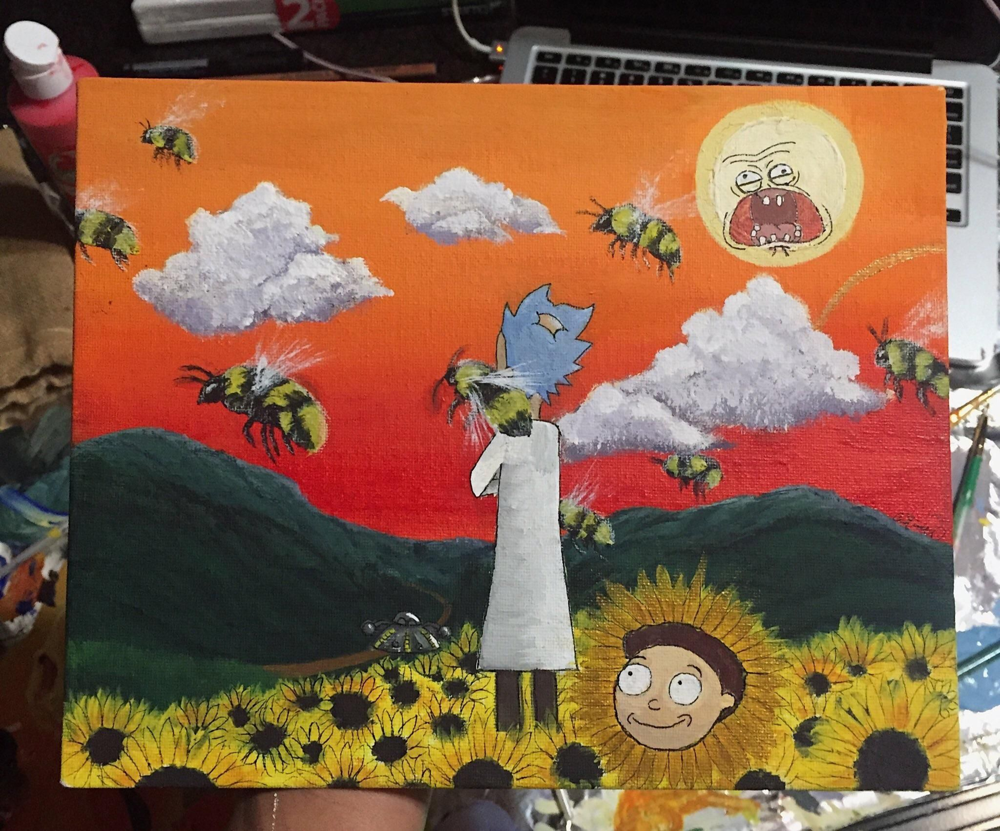 cb16ee9b1204b7 Rick and Morty and Tyler the Creator album art crossover