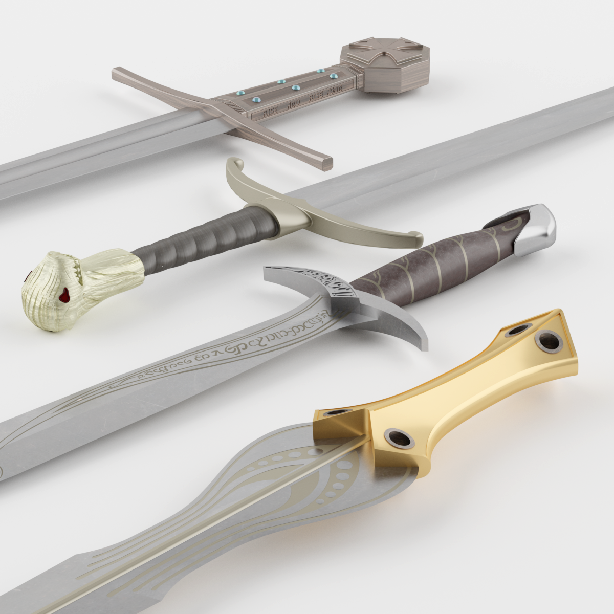 3D realistic replicas of movie swords  Game of Thrones Longclaw