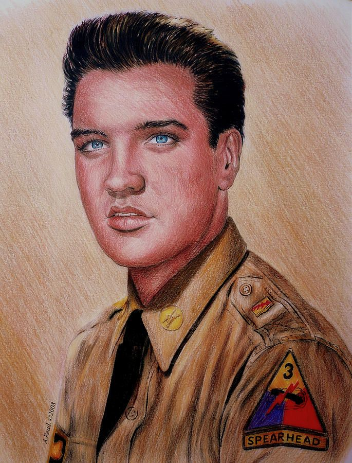 G I Elvis by Andrew Read ~ colored pencils