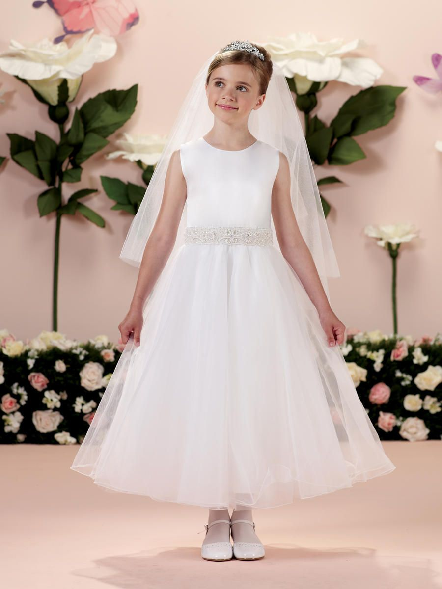 e09bd9bd13e1 Joan Calabrese 114339 for Mon Cheri Girls Communion Dress - French Novelty