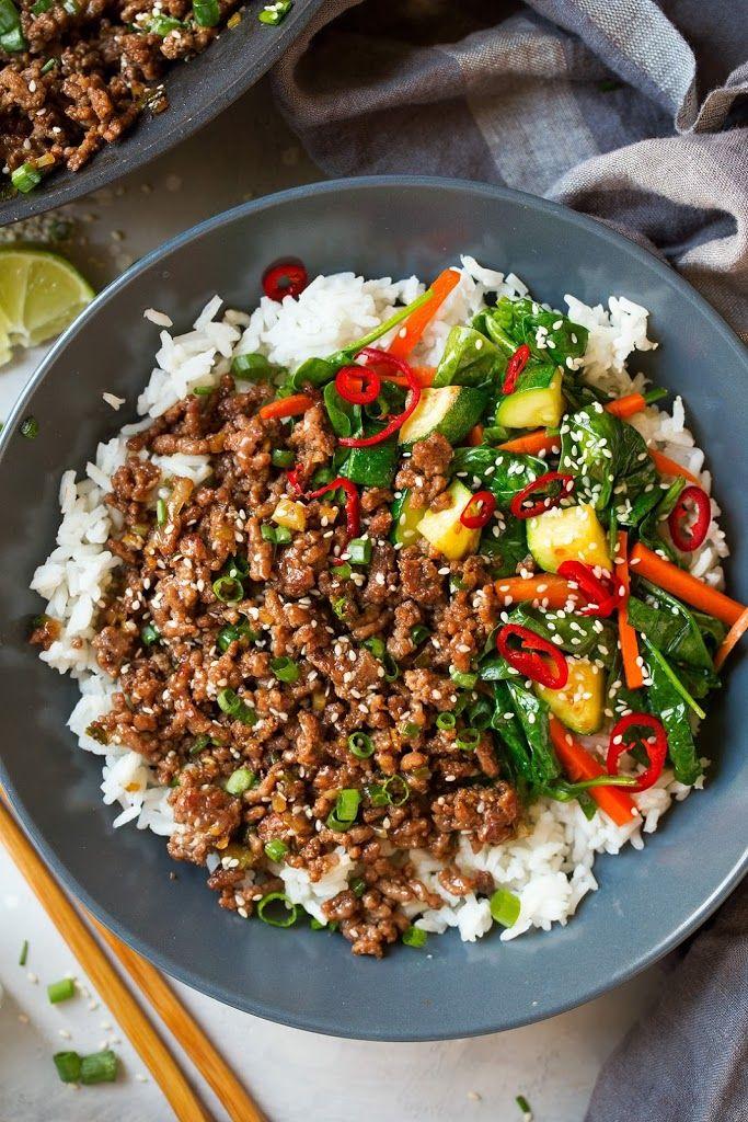 Korean Beef Bowls Recipe Beef Bowl Recipe Korean Beef