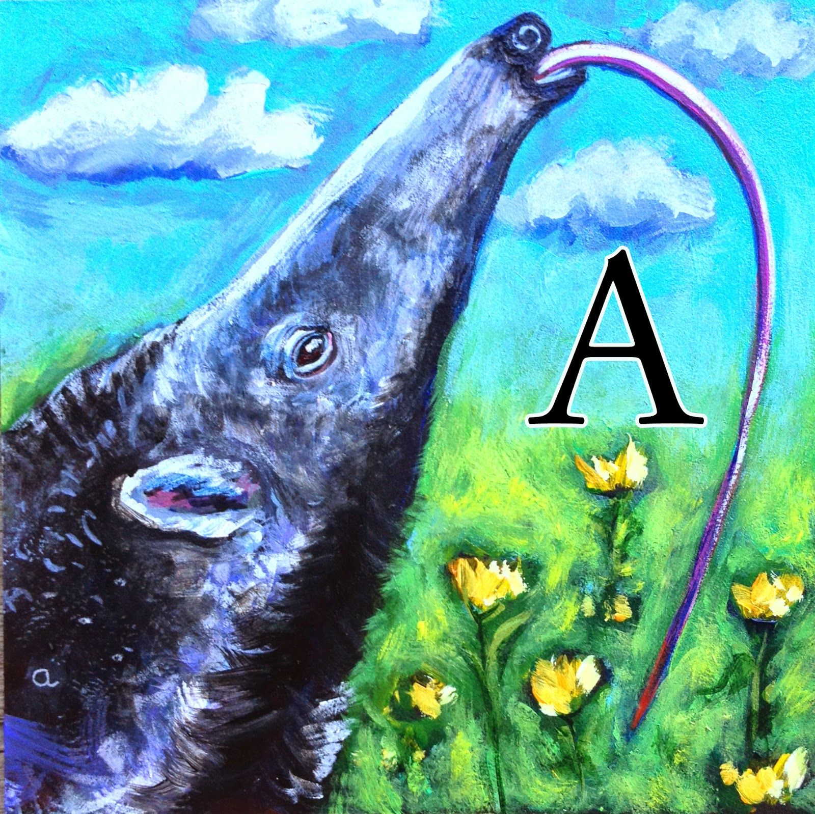 Re-do... A is for Anteater
