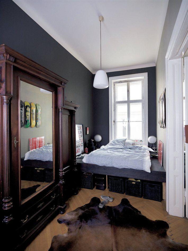 Sfeerbeeld natuurlijke kleuren donkere muren lichte
